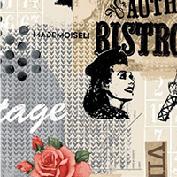 Benartex - Vintage Scrapbook in Multi