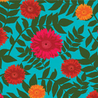 Rousseau Daisy in Turquoise