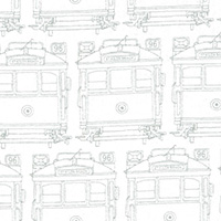Classics by EJJ - Trams in White/Silver