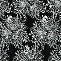 Ella's Backings - Botanical in Black
