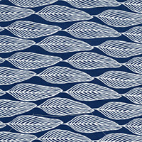 Ella's Backings - Leaf in Navy