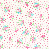 Flower Sugar - Small Flowers & Dots in White