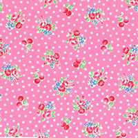 Flower Sugar - Small Flowers & Dots in Pink
