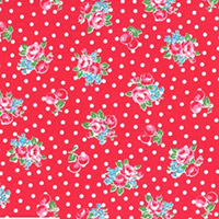 Flower Sugar - Small Flowers & Dots in Red