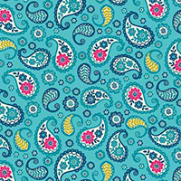 Papillon - Paisley in Teal