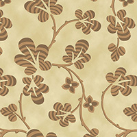Rising Sun Medallion - Clover in Brown