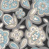 Andalusia - Stylised Floral in Grey