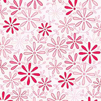 Fancywork Box - Daisies in Light Pink