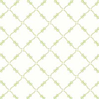 Fancywork Box - Ribbon and Bow Lattice in Green