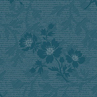 American Beauty - Large Floral Coordinate in Blue