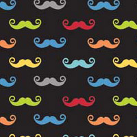 Geekly Mustache Small Black