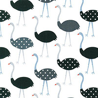 Urban Zoologie - Ostriches in Charcoal