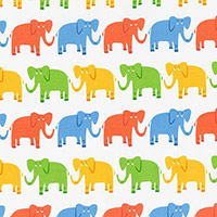 Jungle Party - Elephant March in Bright