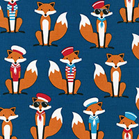 Fabulous Foxes - Sailor Foxes in Navy