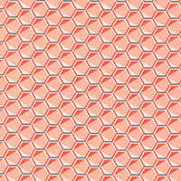 Fragmental - Hexagonal Grid in Salmon