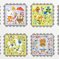 Whimsical Storybook - 8 Characters Panel in Spring