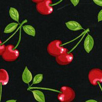 Fruit Basket - Cherries in Black