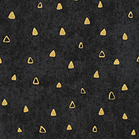 Gustav Klimt - Triangles in Black Metallic