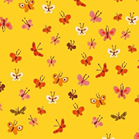 Tiger Lily - Lawn - Butterflies in Yellow