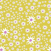 Daisy Chain - Daisies in Chartreuse
