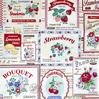 30's Collection - Fruit Label in Cream