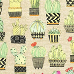 Lovely Llamas - Cactus Hoedown in Tan