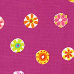 Melodies - Folk Floral Dot in Fuschia