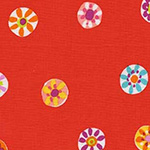Melodies - Folk Floral Dot in Poppy