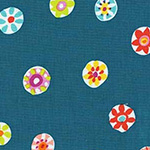 Melodies - Folk Floral Dot in Teal