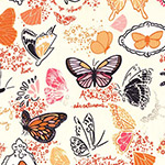 Strawberry Moon - Butterfly Sketchbook in Orange