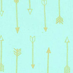 Arrow Flight - Arrows in Seafoam Metallic