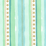Magic - Stars and Stripes in Aqua Metallic