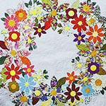 Flowering Wreath - Lap, Large Lap and Queen Quilt Pattern