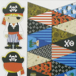 Pirate Bunting and Softie Kit