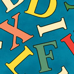 Alphabet Story - Jumbled Letters in Blue