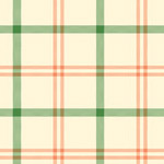Alphabet Story - Plaid in Green and Orange