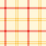 Alphabet Story - Plaid in Red and Yellow