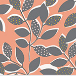 Contours - Leaves in Coral