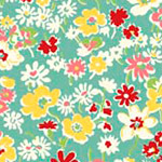 Toy Chest Florals - Floral in Teal