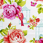 Garden Gate - Boutique Roses and Birdcage in White