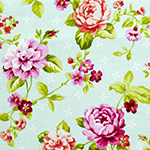 Garden Gate - Boutique Roses Toss in Teal