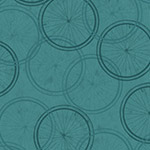 Bicycle Wheels in Dark Teal