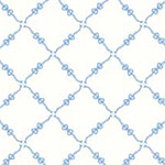 Fancywork Box - Ribbon and Bow Lattice in Blue