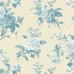 Mrs Miniver - Delicate Roses in Light Blue