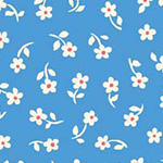 Puddle Jumpers - Daisies in Medium Blue