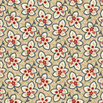 American Beauty - Medium Floral in Tan