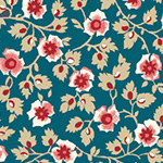American Beauty - Medium Floral in Dark Blue