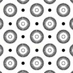 Basically Low - Daisy Wheel Dots in Black