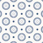 Basically Low - Daisy Wheel Dots in Blue
