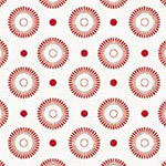 Basically Low - Daisy Wheel Dots in Red